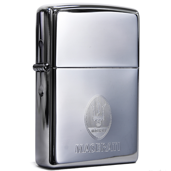 MASERATI Emblem-Engraved Zippo Lighter(Chrome)