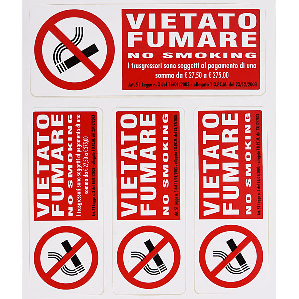 VIETATO FUMARE(禁煙)ステッカーセット<br><font size=-1 color=red>10/31到着</font>