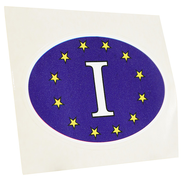 Blue Euro Oval Sticker