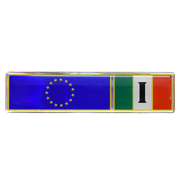 EU&Italian Flag 3D Sticker