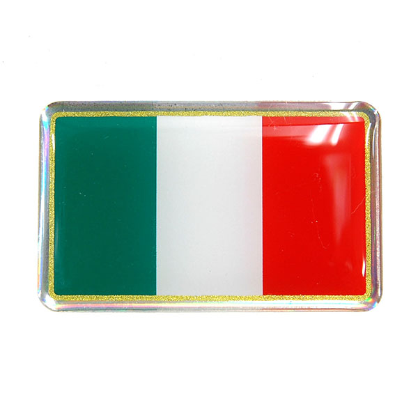 Italian Flag 3D Sticker