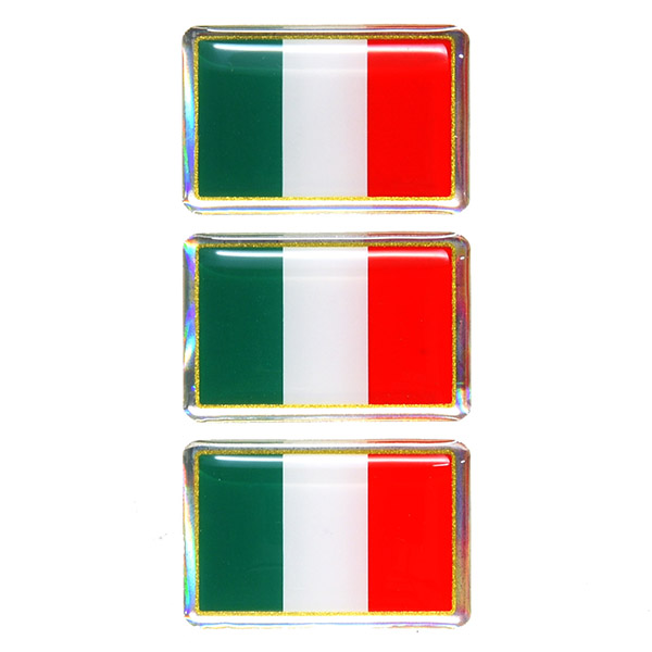 Italian Flag 3D Sticker Set(35mm/3PCS)