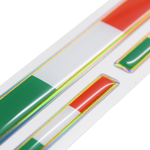 Italian Flag 3D Sticker Set(Long/3pcs.)