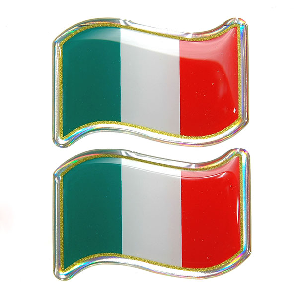 Italian Flag 3D Sticker Set(Wave/2pcs.)