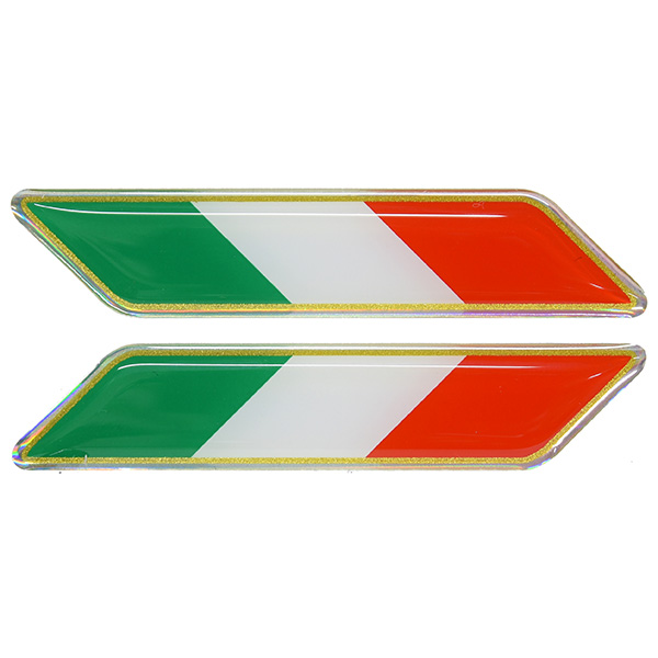 Italian Flag 3D Sticker Set(Tricolore/Small.)