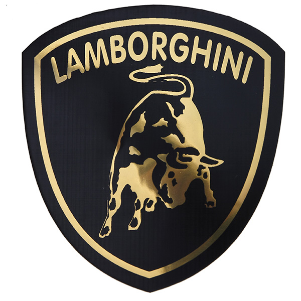 Lamborghini Emblem Sticker(Black/Small)