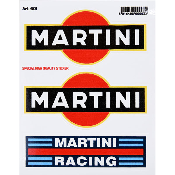 MARTINI&MARTINI RACING Sticker Set