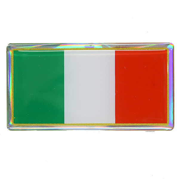 Italian Flag 3D Sticker(78mm)