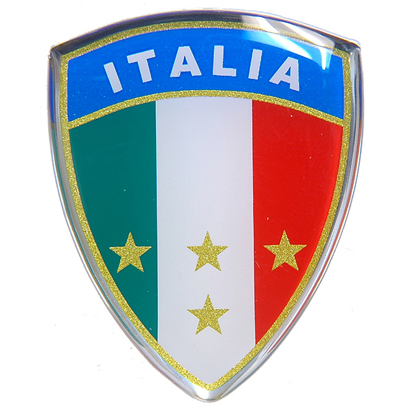 Italian Flag Crest Shaped 3D Sticker Type A