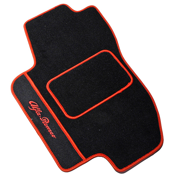 Alfa Romeo 156/SW Floor Mats(Black/Red Piping/LHD)