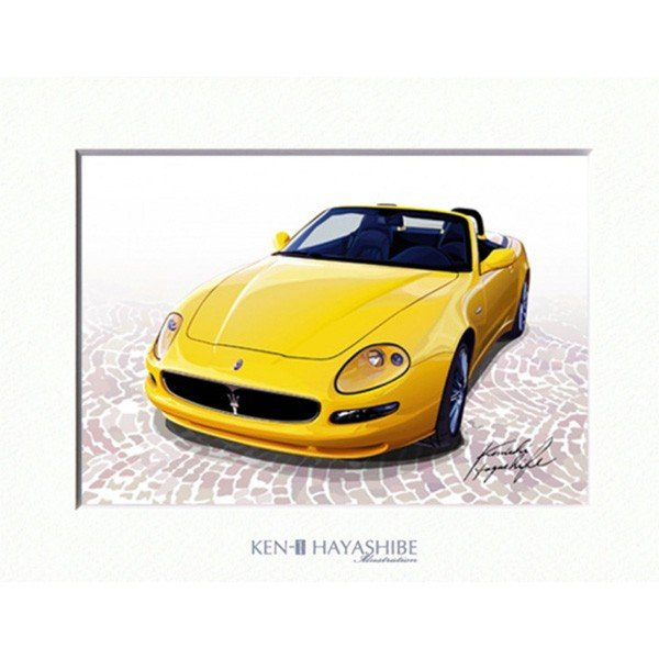 MASERATI spyderイラストレーション by 林部研一<br><font size=-1 color=red>04/10到着</font>