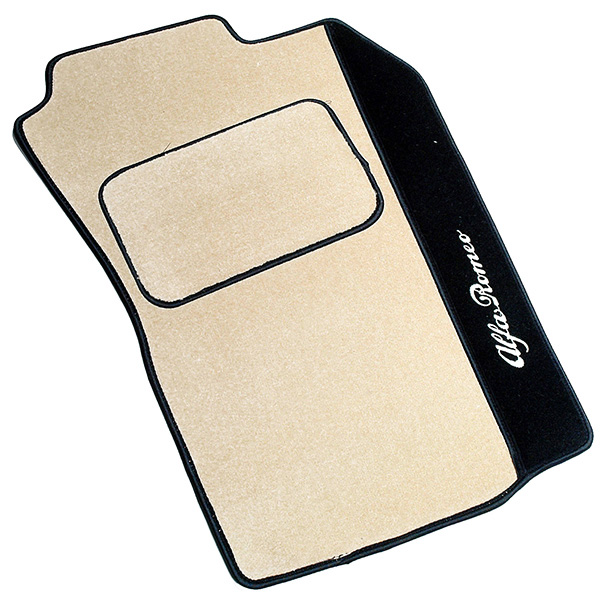 Alfa Romeo 147/GT Floor Mats(Beige/Black Piping/RHD)