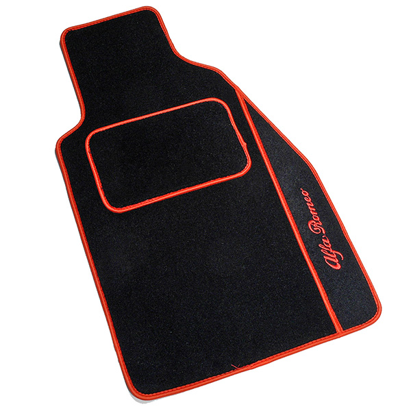 Alfa Romeo GTV/Spider Floor Mats(Black/Red Piping/RHD)
