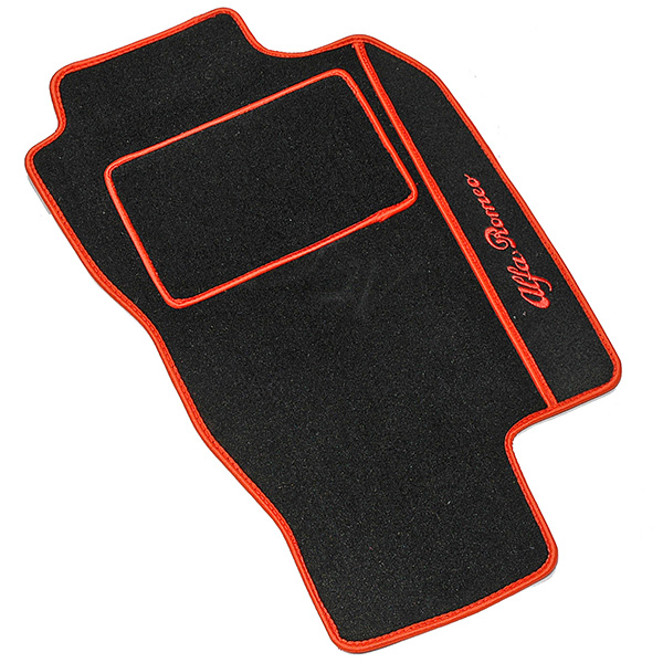 Alfa Romeo 156/SW Floor Mats(Black/Red Piping/RHD)