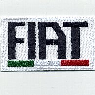 FIAT Logo & Italian Flag Patch