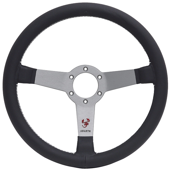 ABARTH Steerling Wheel (3Sporks/Silver)Type A