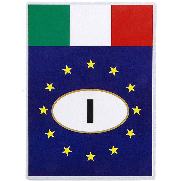 Italian Flag & Euro Square Sticker