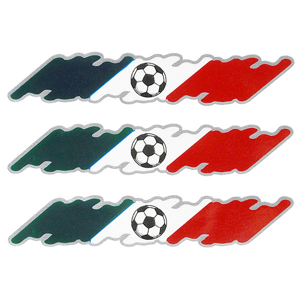 Italian Flag&Soccor Ball Sticker Set