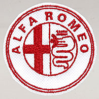Alfa Romeo Emblem Shaped Patch (White Base)
