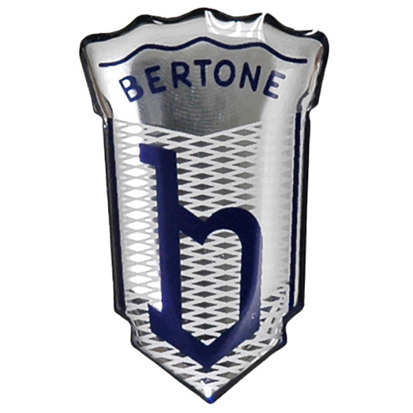 BERTONE Emblem Shaped 3D Sticker