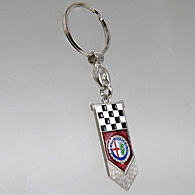 Alfa Romeo Metal Keyring (Checkerd Flag)