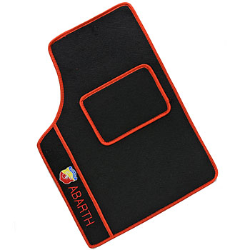 AUTOBIANCHI A112 ABARTH Floor Mats (Black/Red Piping/LHD)