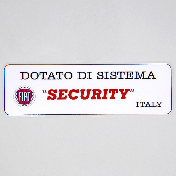 FIAT SECURITY STICKER<br><font size=-1 color=red>05/22到着</font>