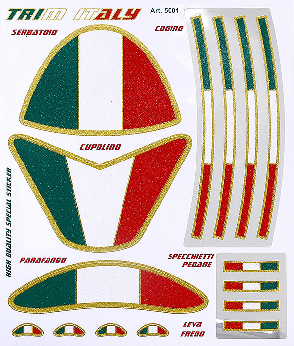 TRIM ITALY Sticker Set