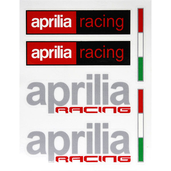 Apriliaロゴステッカー6枚セット<br><font size=-1 color=red>11/19到着</font>
