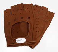 Alfa Romeo Leather Driving Gloves (Half/Brown)
