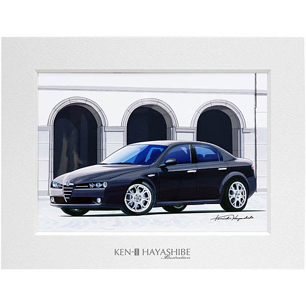 Alfa Romeo 159 Illustration by Kenichi Hayashibe